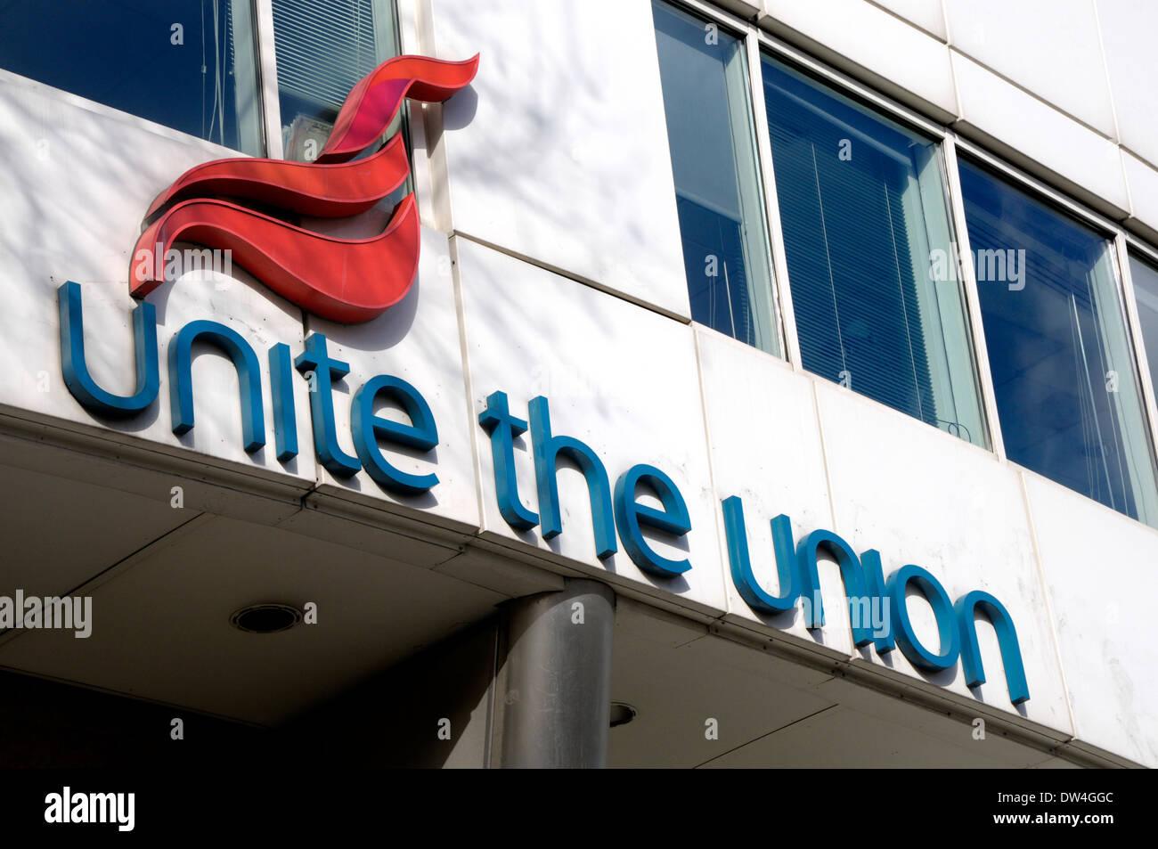 London, England, UK. Headquarters of the union UNITE, 128 Theobalds Rd, Holborn - Stock Image