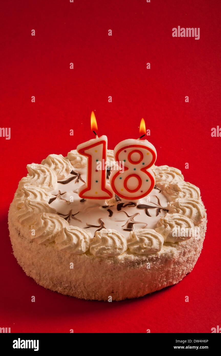18 Years Birthday Cake Stock Photo 67098830
