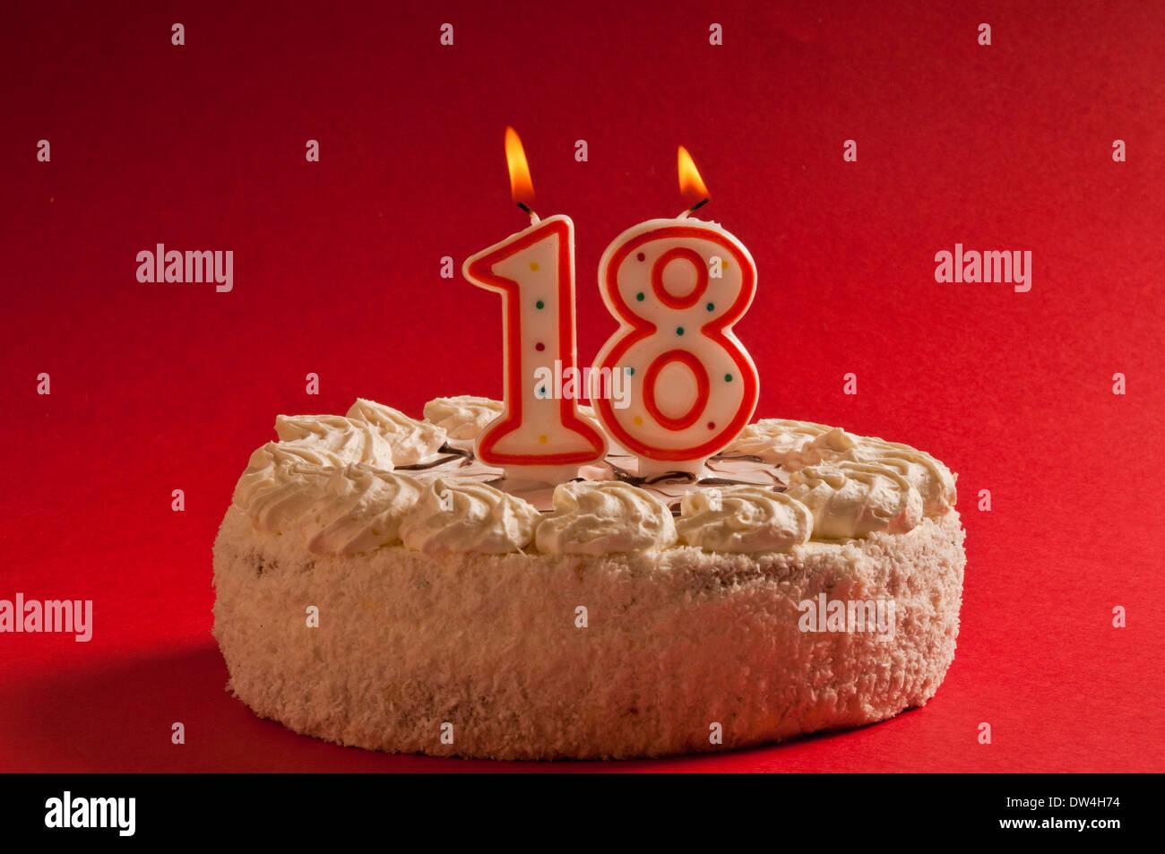 18 Years Birthday Cake Stock Photos 18 Years Birthday Cake Stock