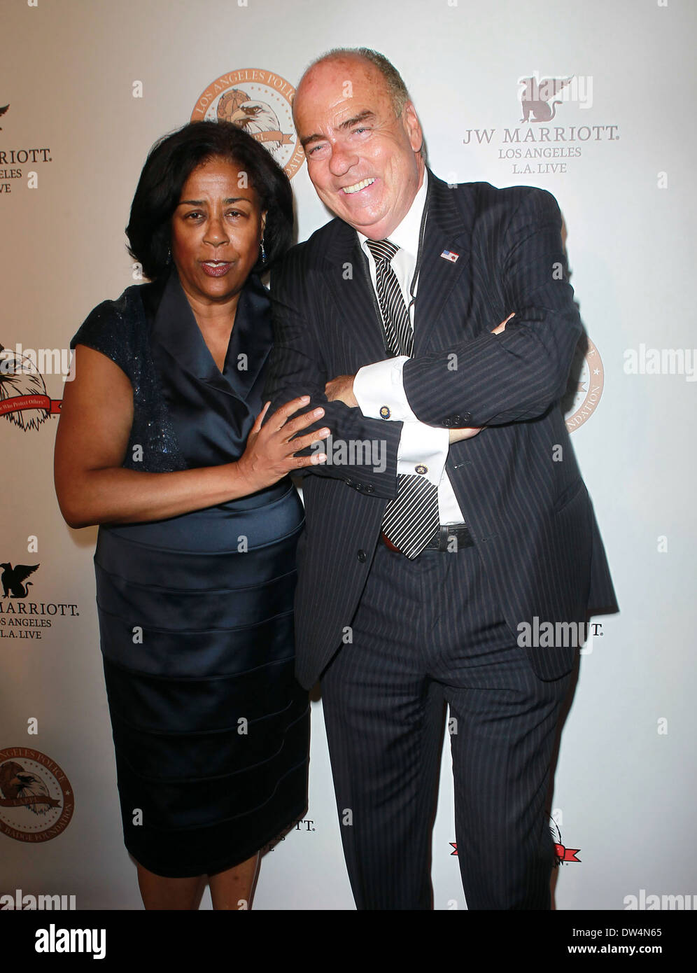 Jan Perry and Arthur Cassell Los Angeles Police Protective League's 11th Anniversary Eagle & Badge Foundation Gala at the JW Marriott Los Angeles, California - 06.10.12 Featuring: Jan Perry and Arthur Cassell Where: Los Angeles, California, United States - Stock Image