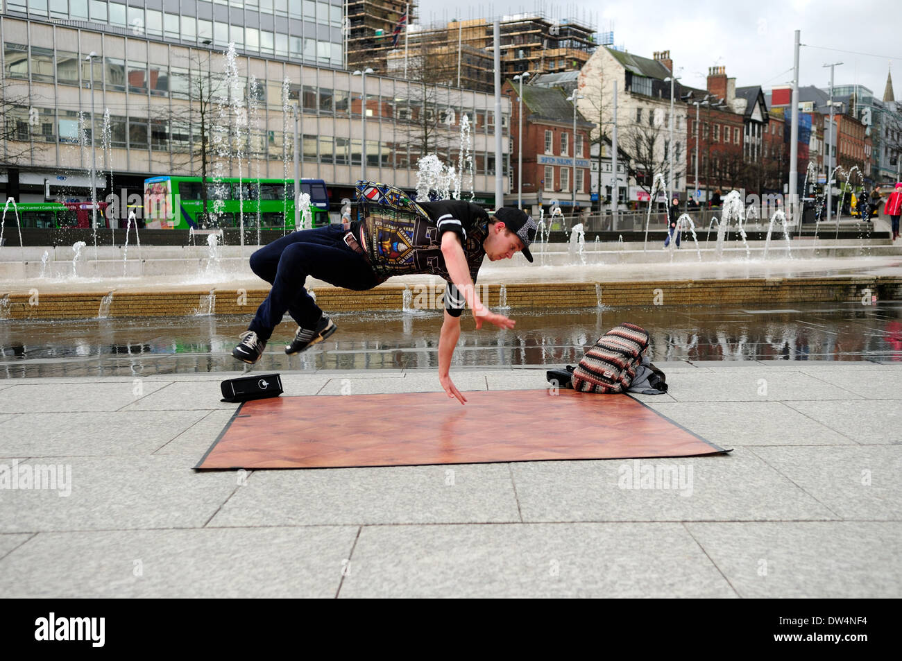Free-Runner And Street Dancer. Stock Photo