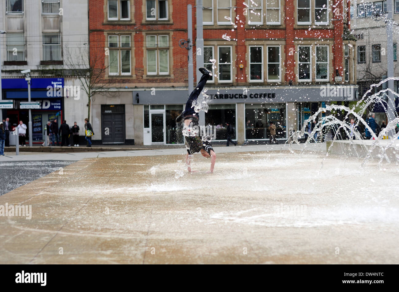Free-Runner And Street Dancer. - Stock Image
