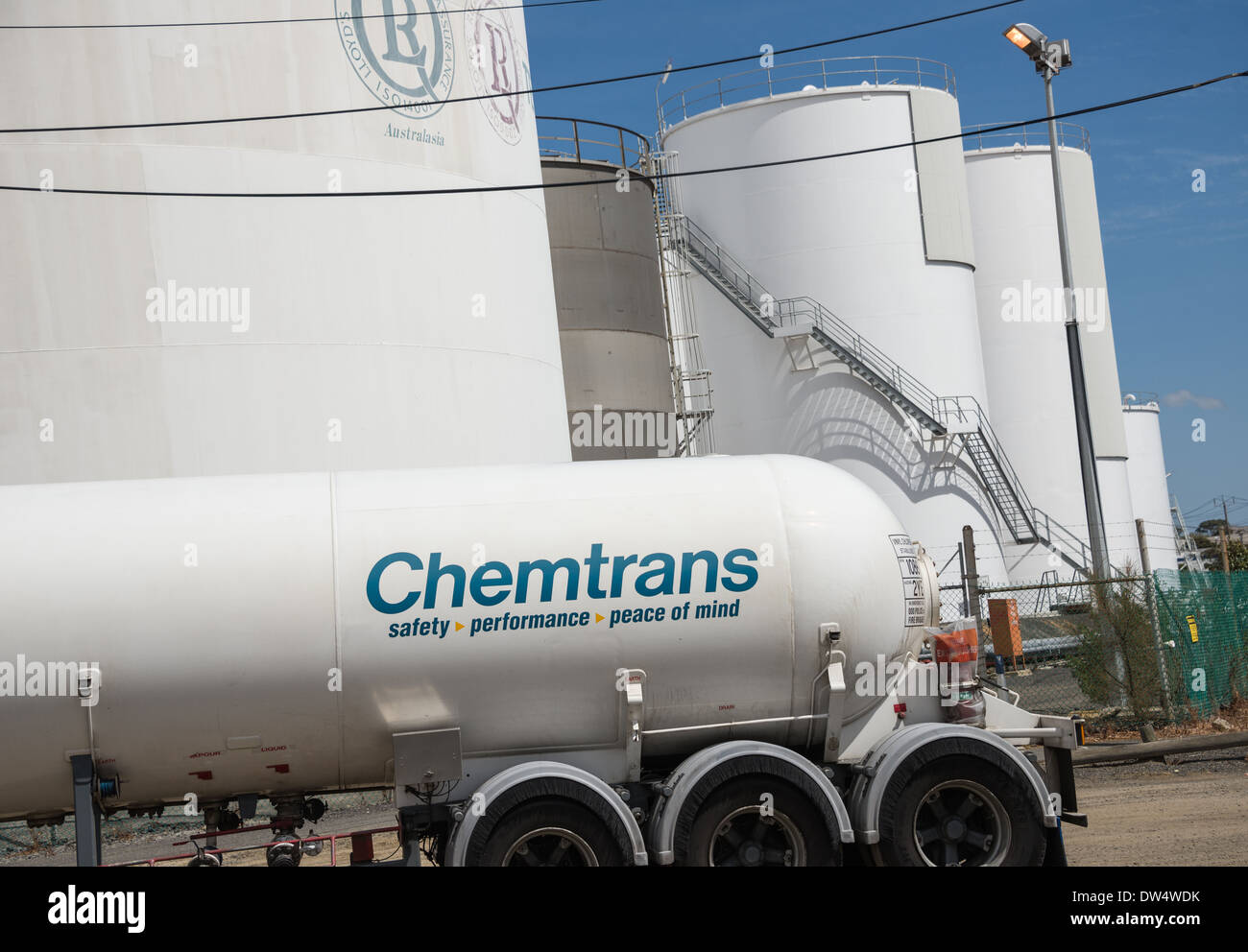 Chemtran chemical petrol industry tankers storage liquid transportation chemical and bulk material transport - Stock Image