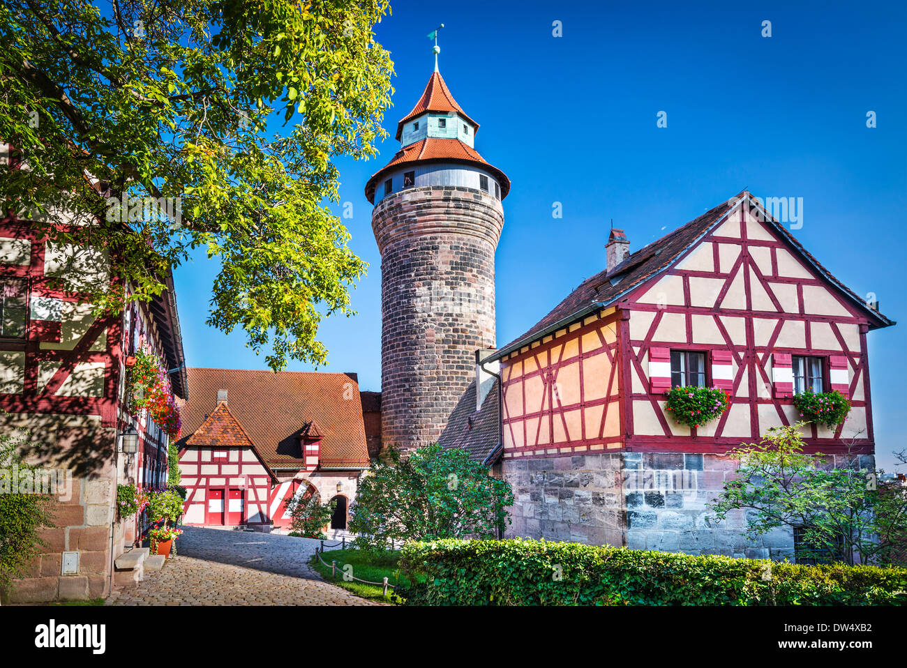 Nuremberg Castle in Nuremberg, Germany. - Stock Image