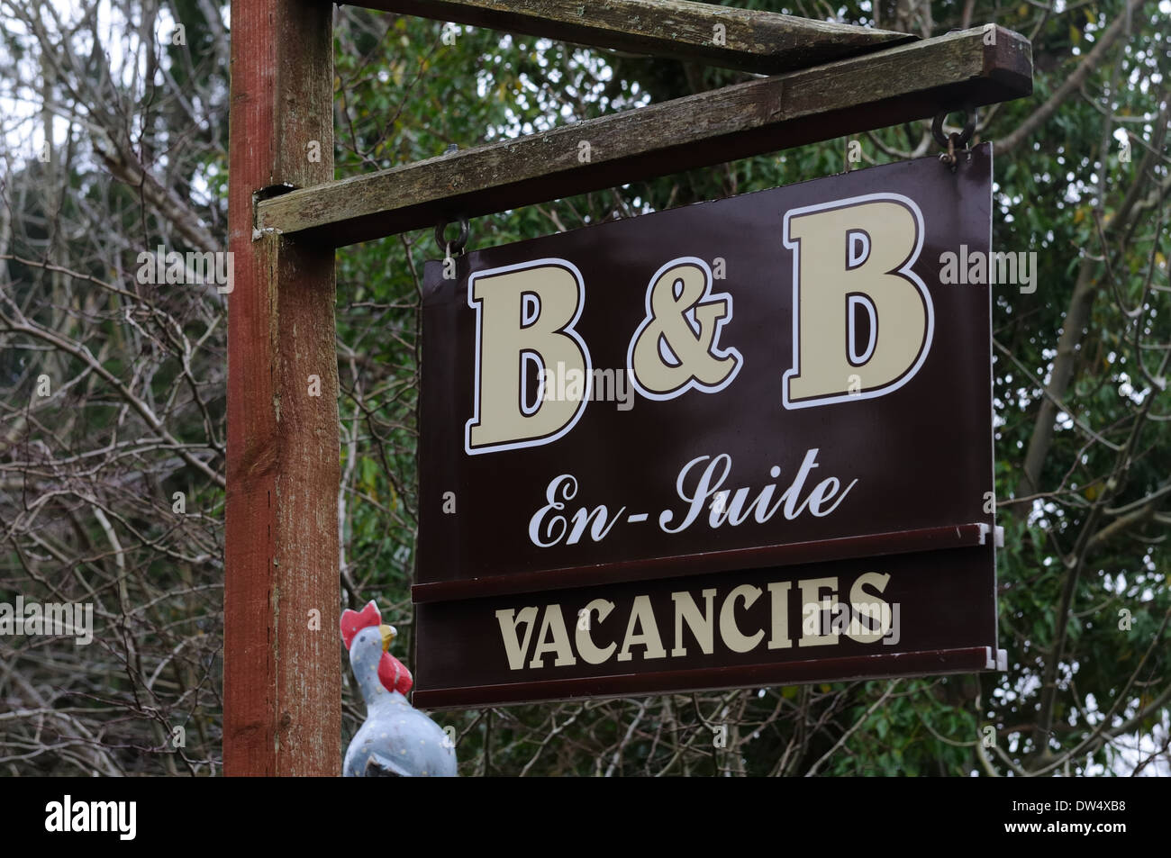 Bed and breakfast vacancy sign - Stock Image