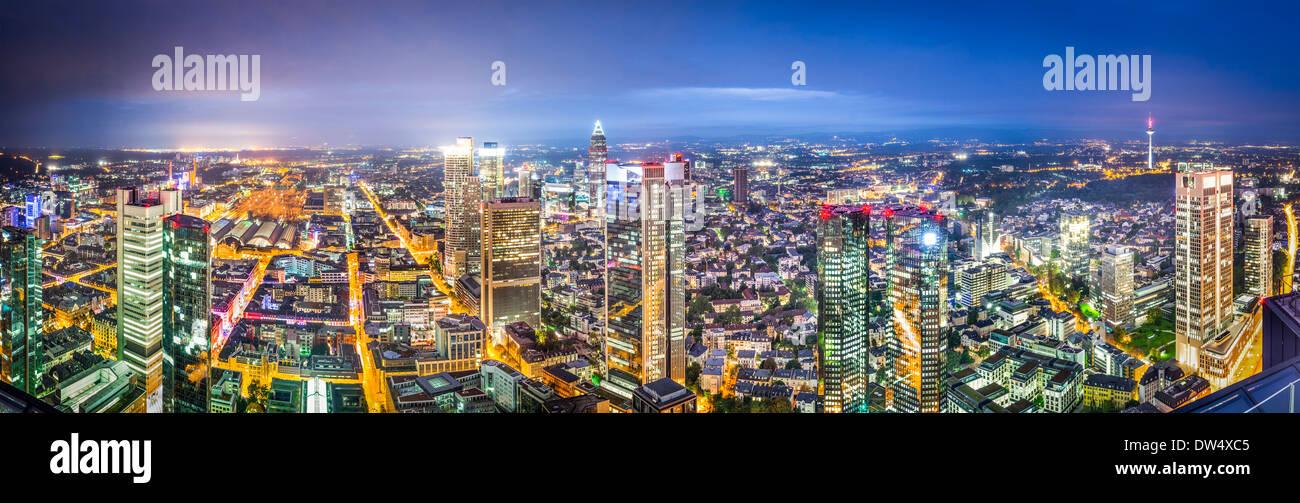 Frankfurt, Germany city skyline panorama. - Stock Image