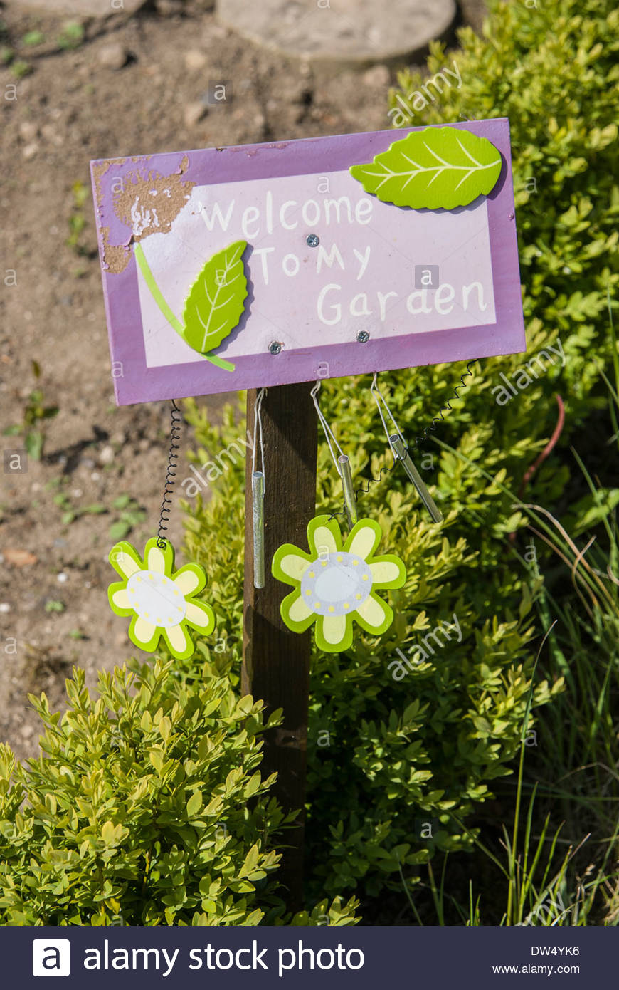 U0027Welcome To My Gardenu0027 Sign On One Of The Allotments Created In The Old  Kitchen Garden At Lukesland Garden For Local People. U0027