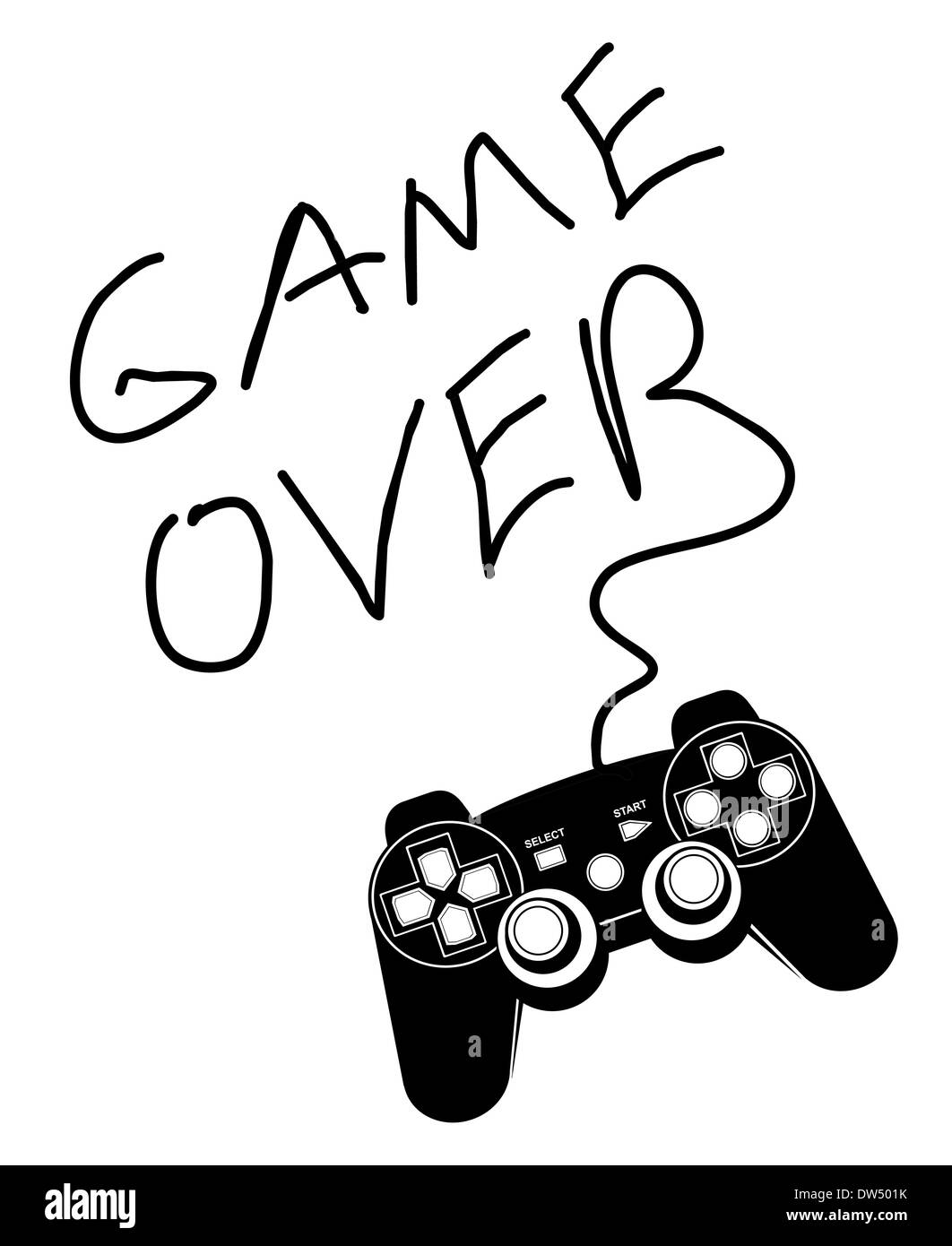 Game over - Stock Image