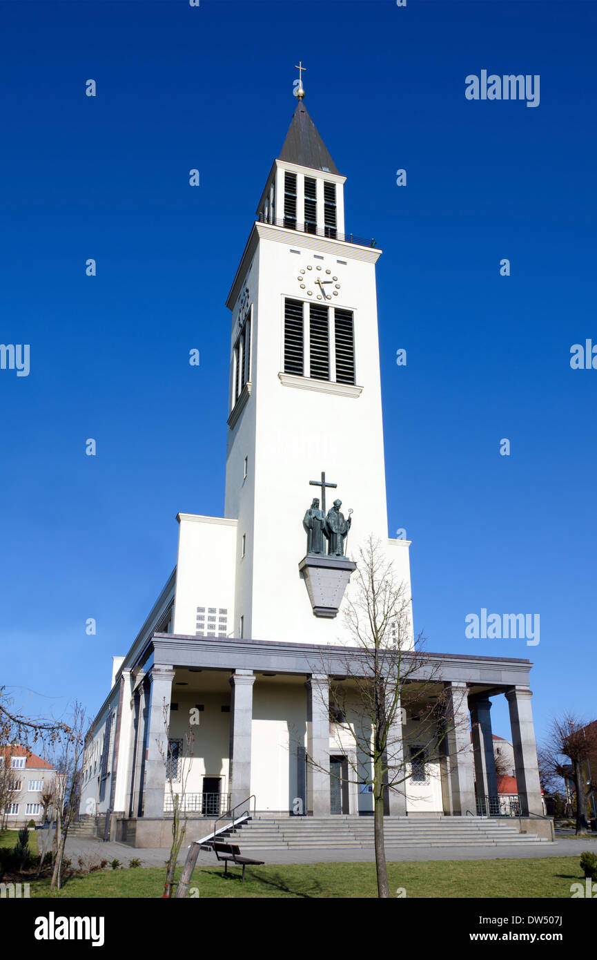 The St. Cyril and Methodius church in Olomouc - Stock Image