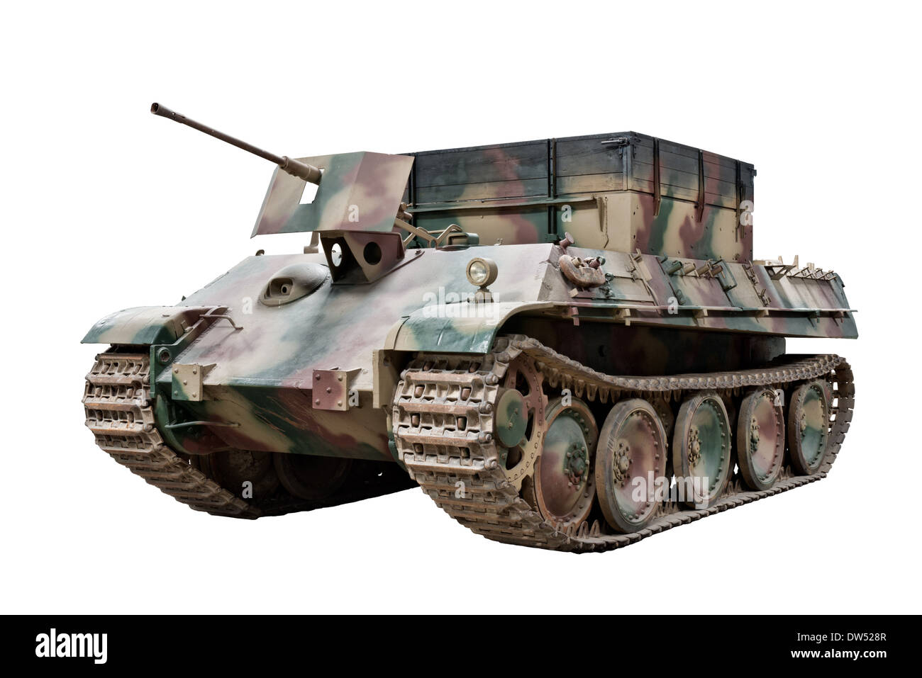 A cut out of a Bergepanther armored recovery vehicle (Sd.Kfz.179) used by Nazi German forces during WW2 - Stock Image