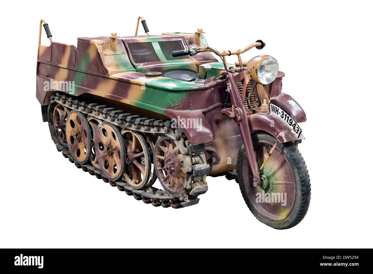 A cut out of a Kleines Kettenkraftrad HK 101 or Kettenkrad SdKfz2 ...
