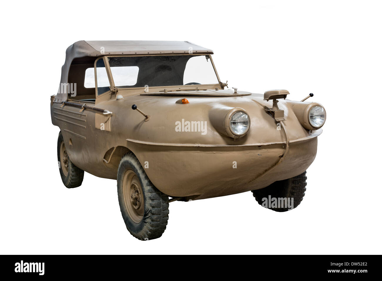 A cut out of an SG6 41 Trippelwagen amphibious car ordered an used by the SS & Nazi German forces during WW2 - Stock Image