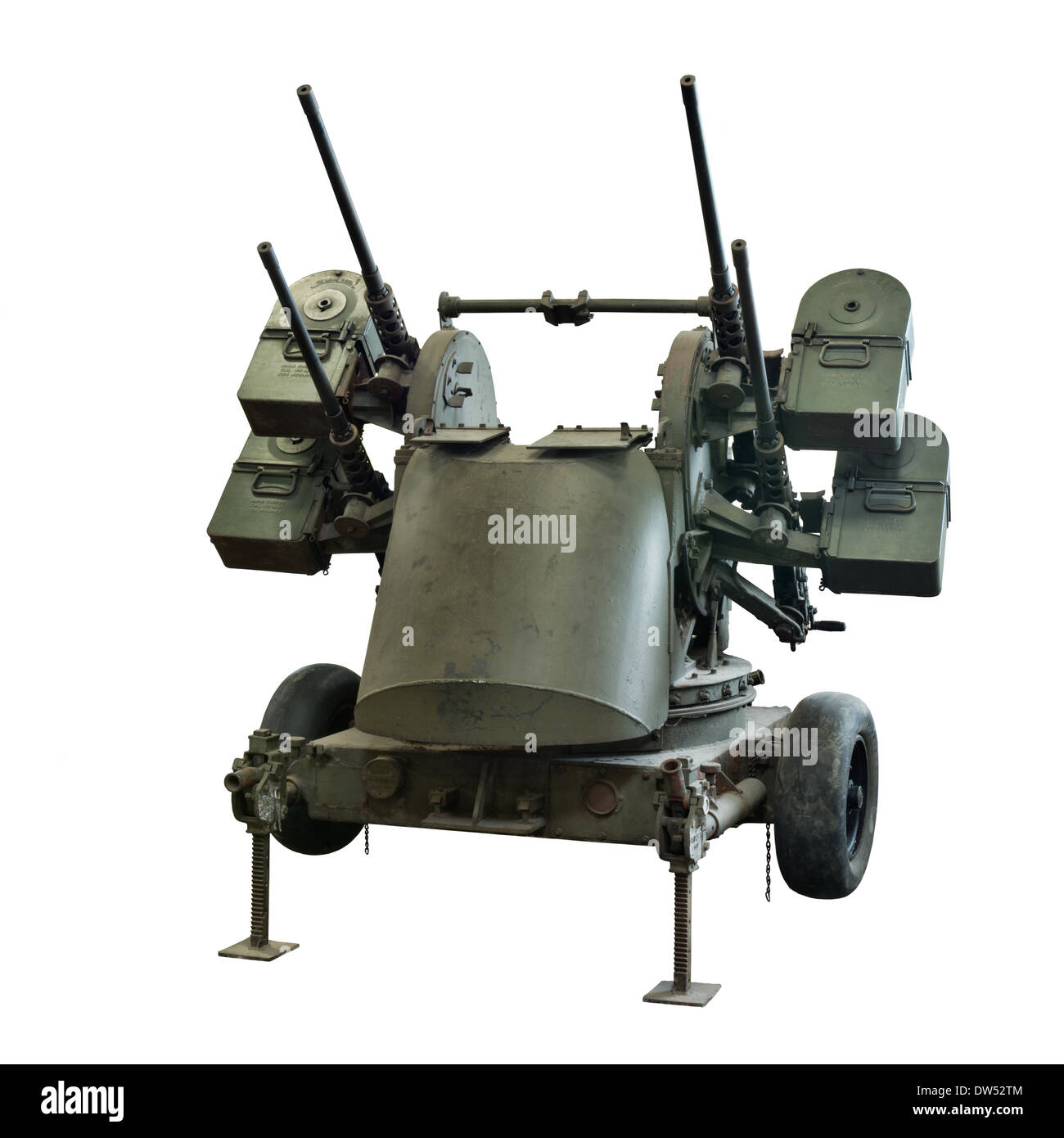A Maxon M45 Quadmount anti-aircraft system used extensively by allied forces during WW2 - Stock Image