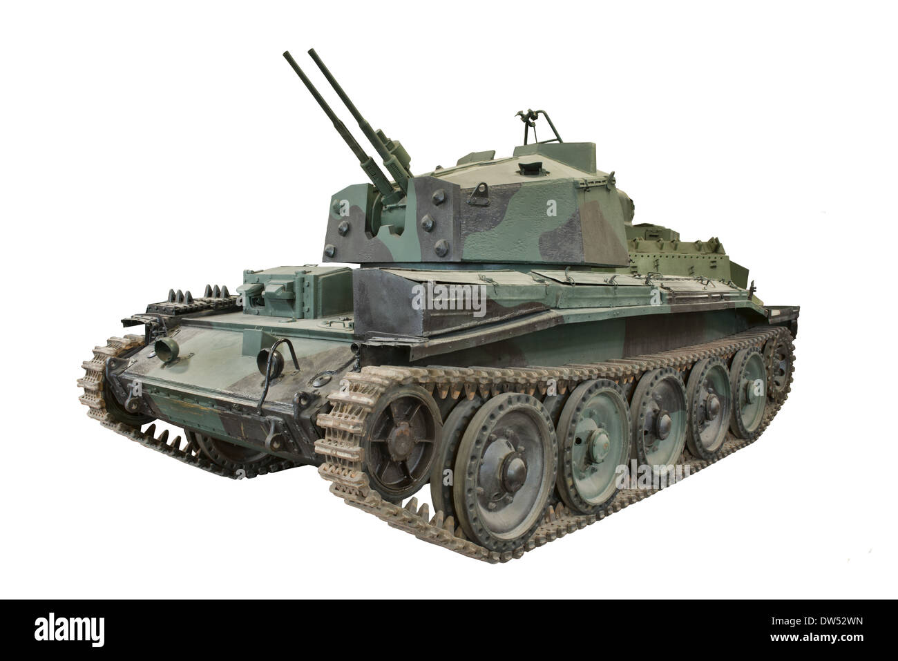 A Cut out of a British Crusader III AA II Tank anti aircraft System used by allied forces after the D Day landings - Stock Image