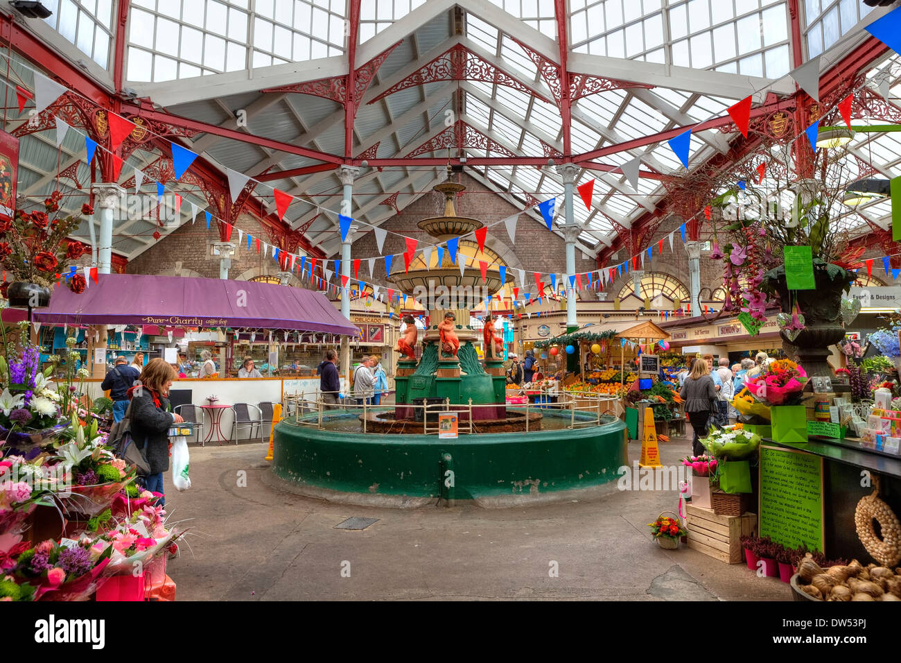 Central Market St Helier - Stock Image