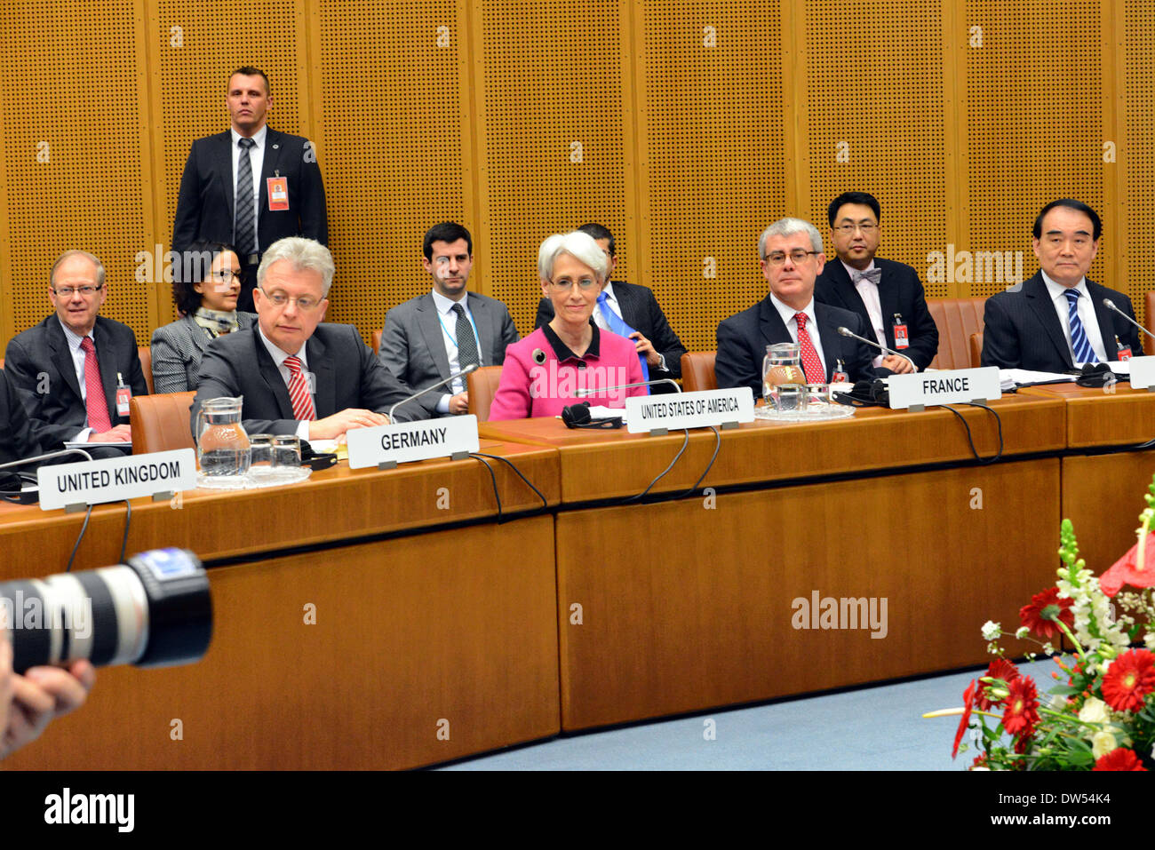 Under Secretary Sherman Leads the U.S. Delegation at Iran Talks in Vienna - Stock Image