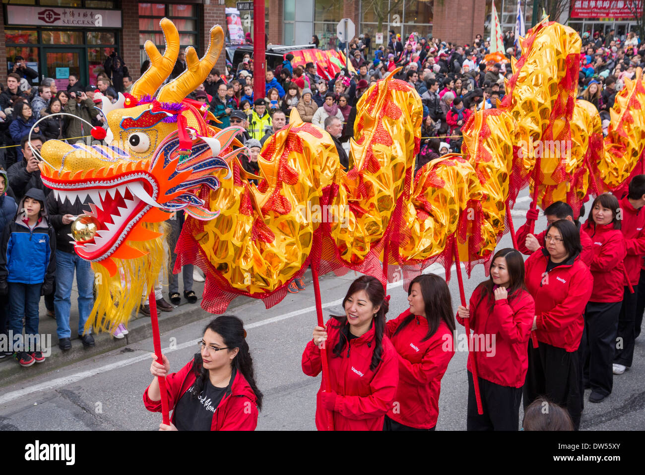 Vancity credit union chinese dragon team chinese lunar for Chinese new years parade