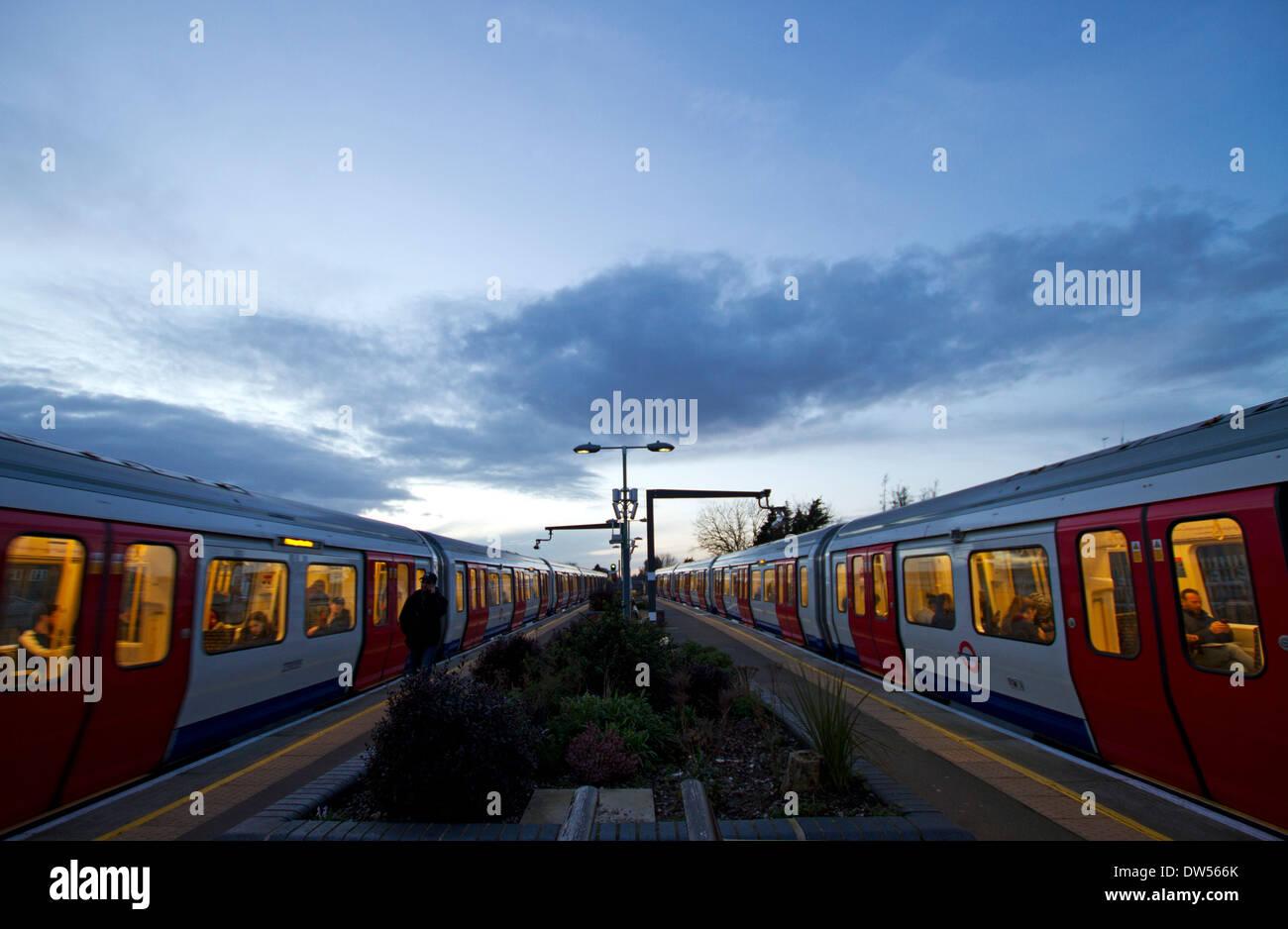 London underground trains - Stock Image