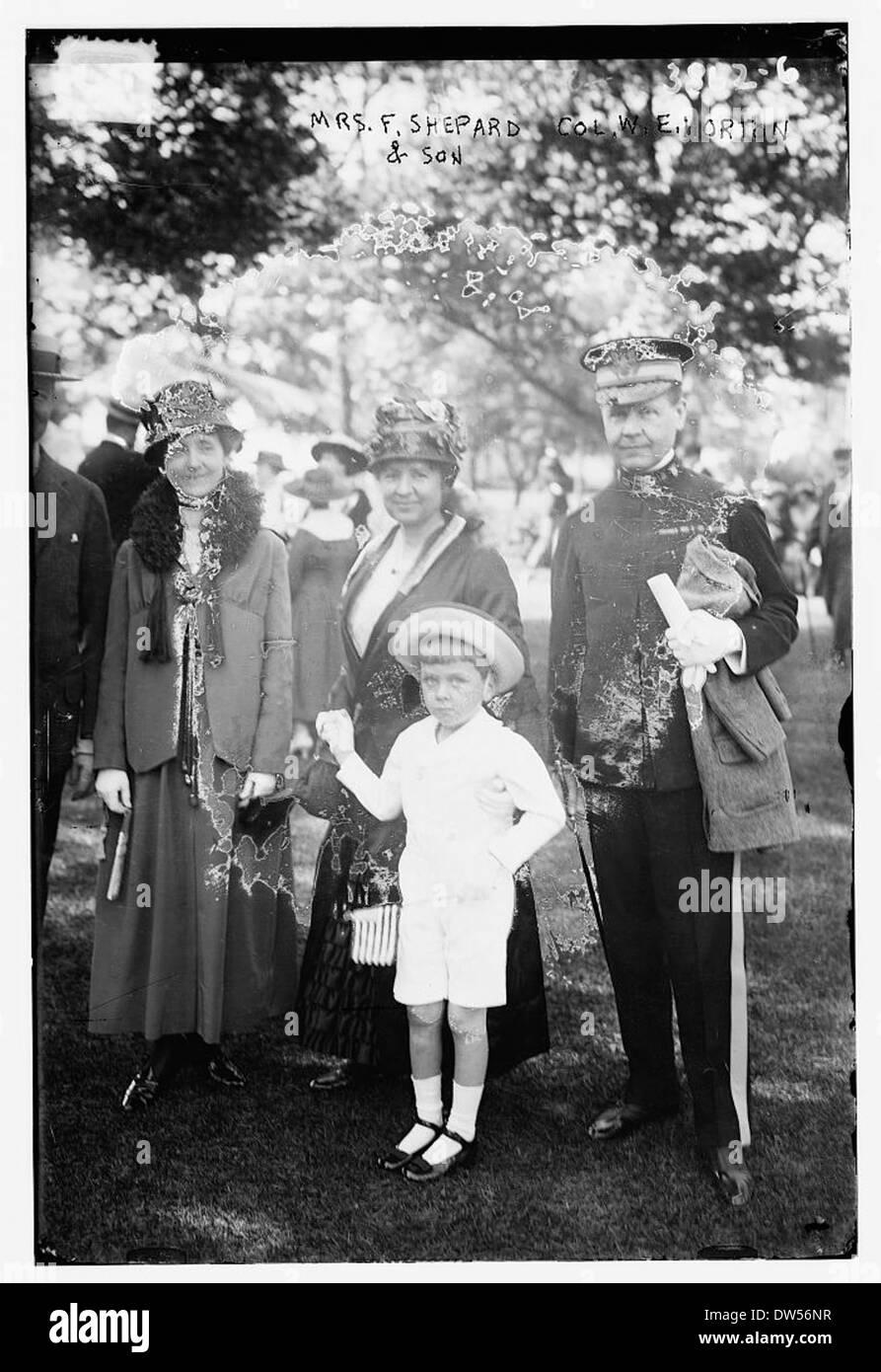 Mrs. F. Shepard & son, & Col. W. E. Horton (LOC) - Stock Image
