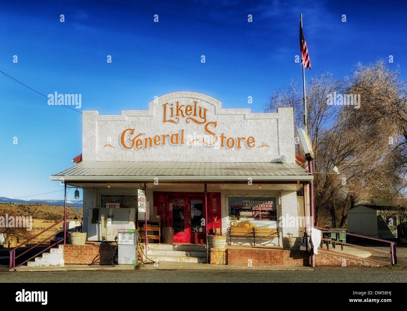 general store california nostalgic old-fashioned - Stock Image
