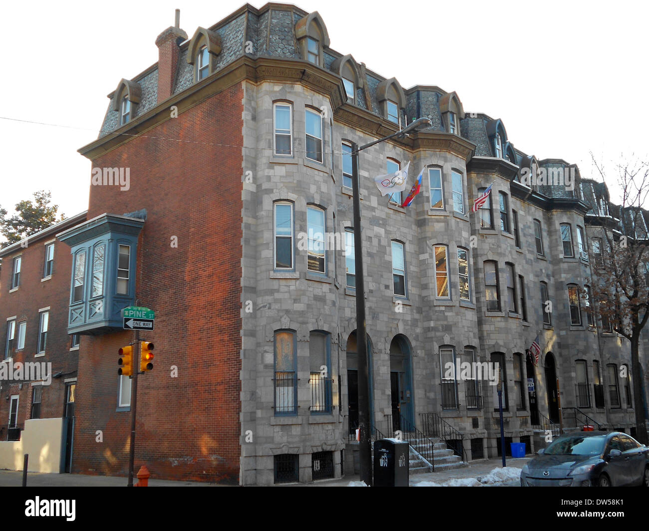 Edward Drinker Cope House listed on the NRHP on May 15, 1975 at 2102 Pine Street in the Rittenhouse Square West neighborhood of - Stock Image
