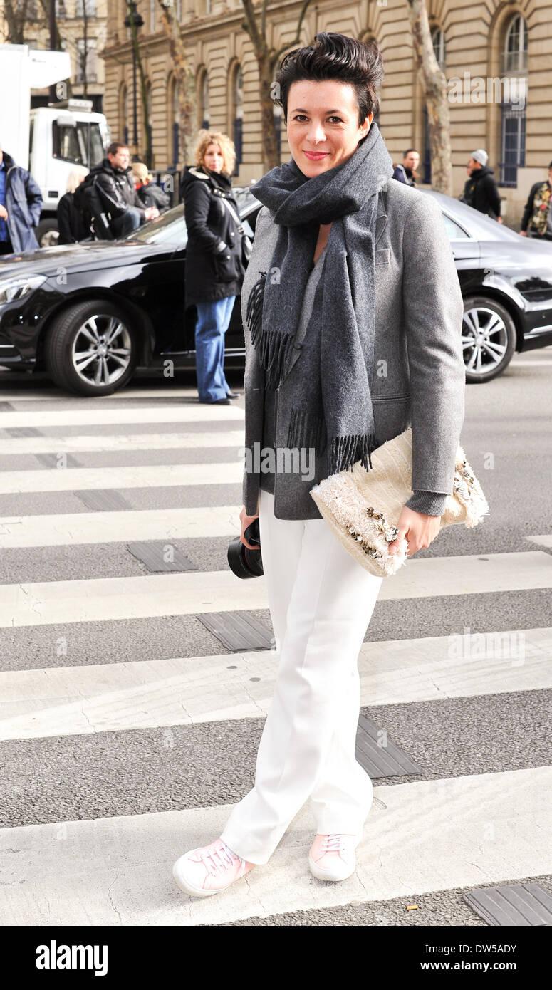 French Blogger Garance Dore Attending The Dries Van Noten Runway Show Stock Photo Alamy
