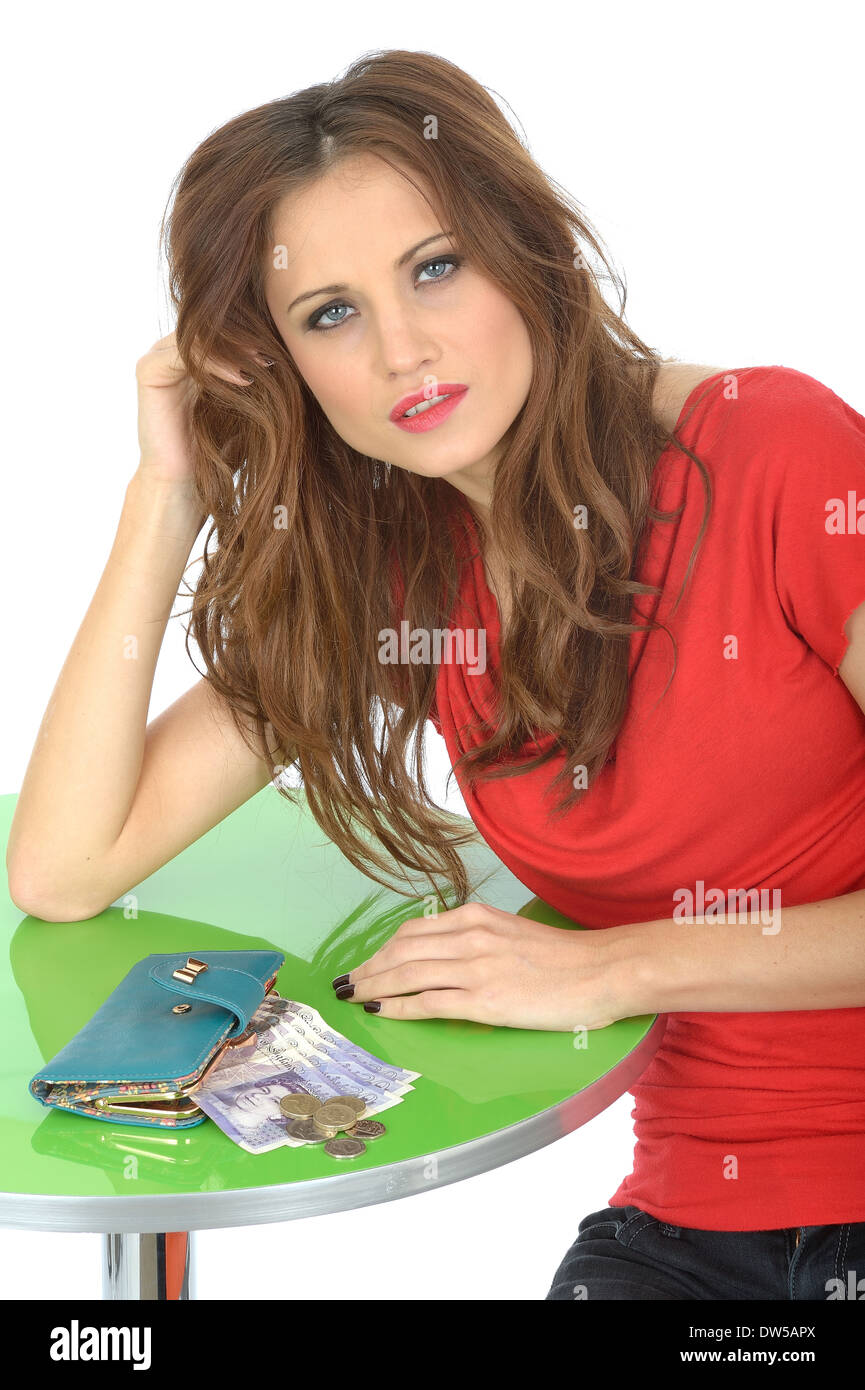 Young Woman Money Worries - Stock Image
