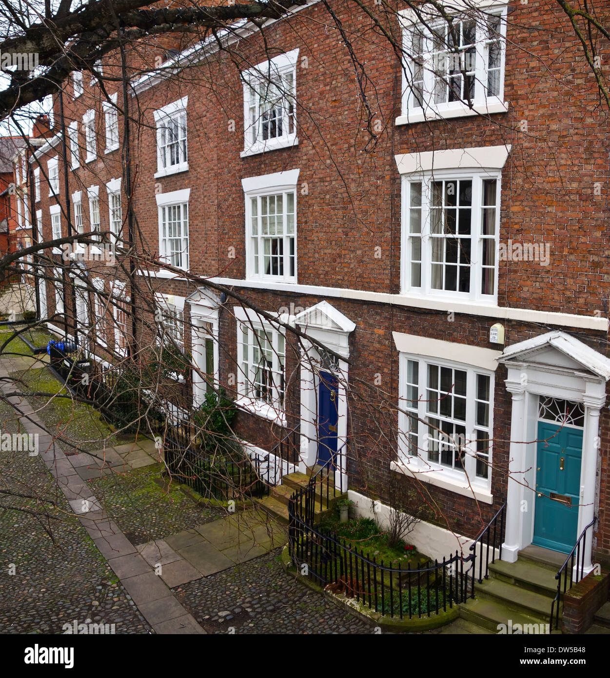 Edwardian Victorian terrace town house Chester - Stock Image