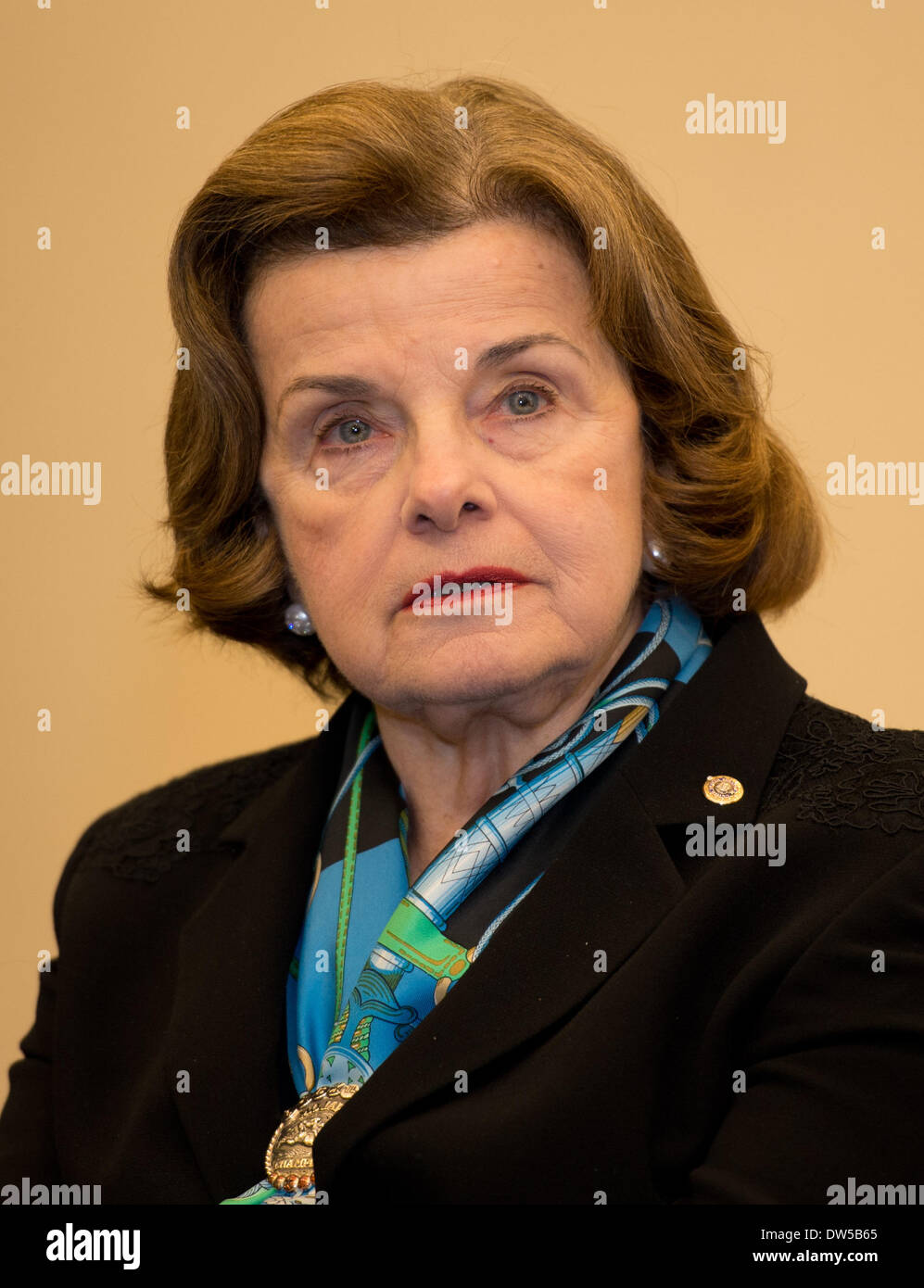 Washington DC, USA. 27th Feb, 2014. US American senator Dianne Feinstein in Washington DC, USA, 27 February 2014. - Stock Image