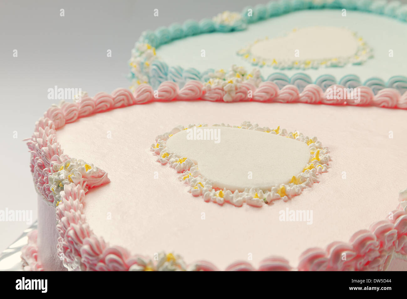 Swell Birthday Cakes Twins Boy Girl Stock Photos Birthday Cakes Twins Funny Birthday Cards Online Inifodamsfinfo