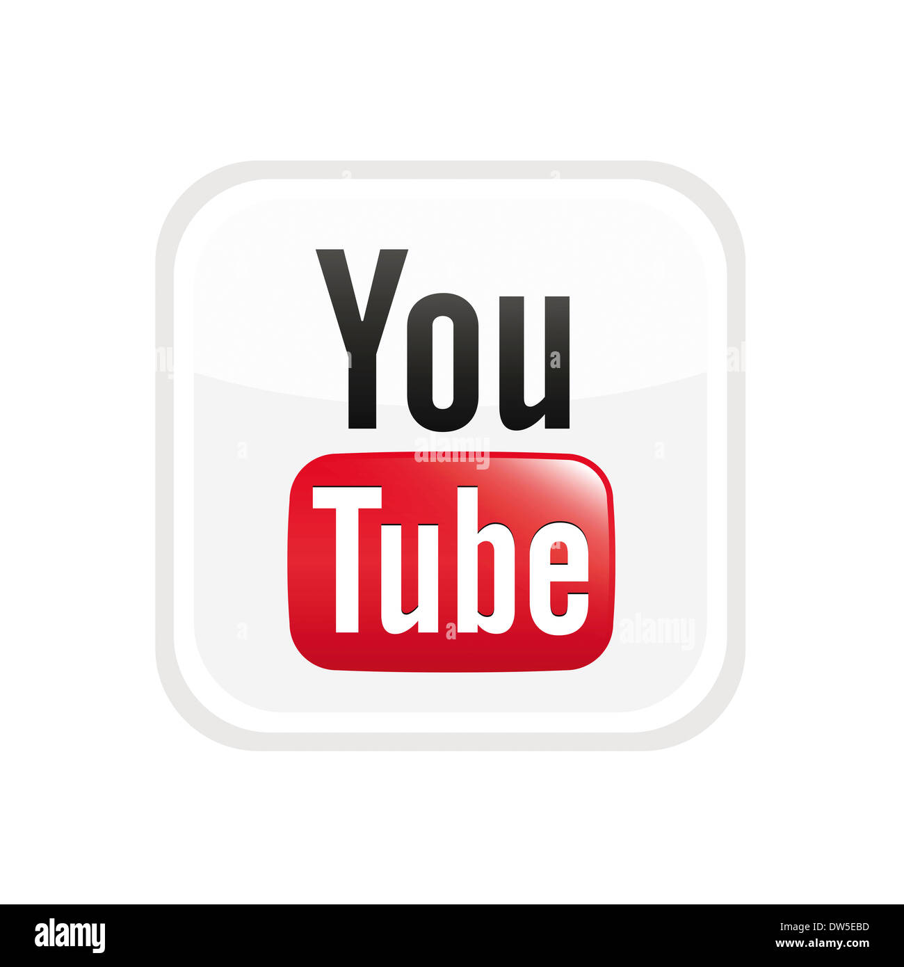 Tube Youtube Logo Symbol Icon Cut Out Stock Images Pictures Alamy
