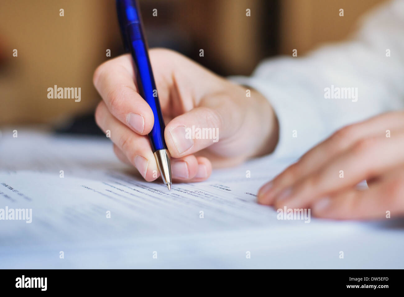 businessman working with documents - Stock Image