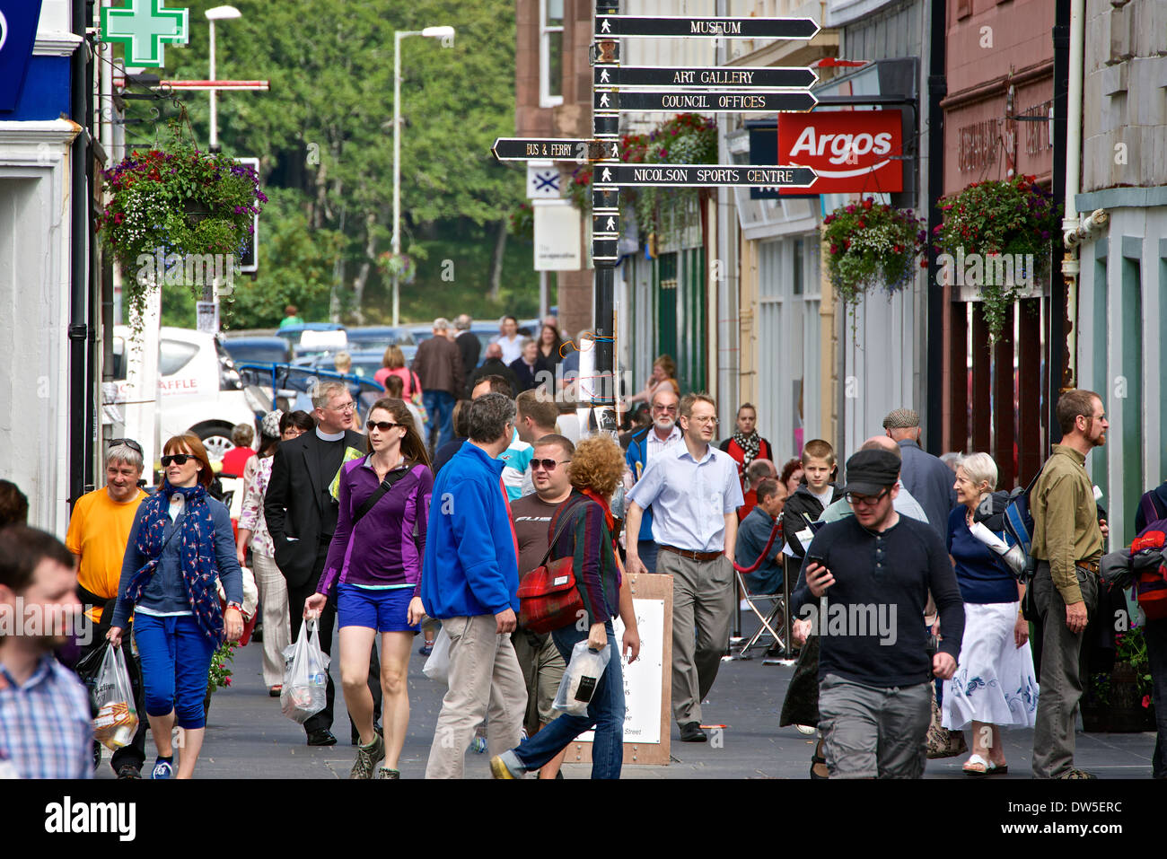 Stornoway town centre - Stock Image