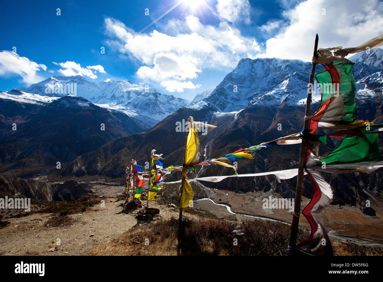 Himalaya mountains, Nepal - Stock Image