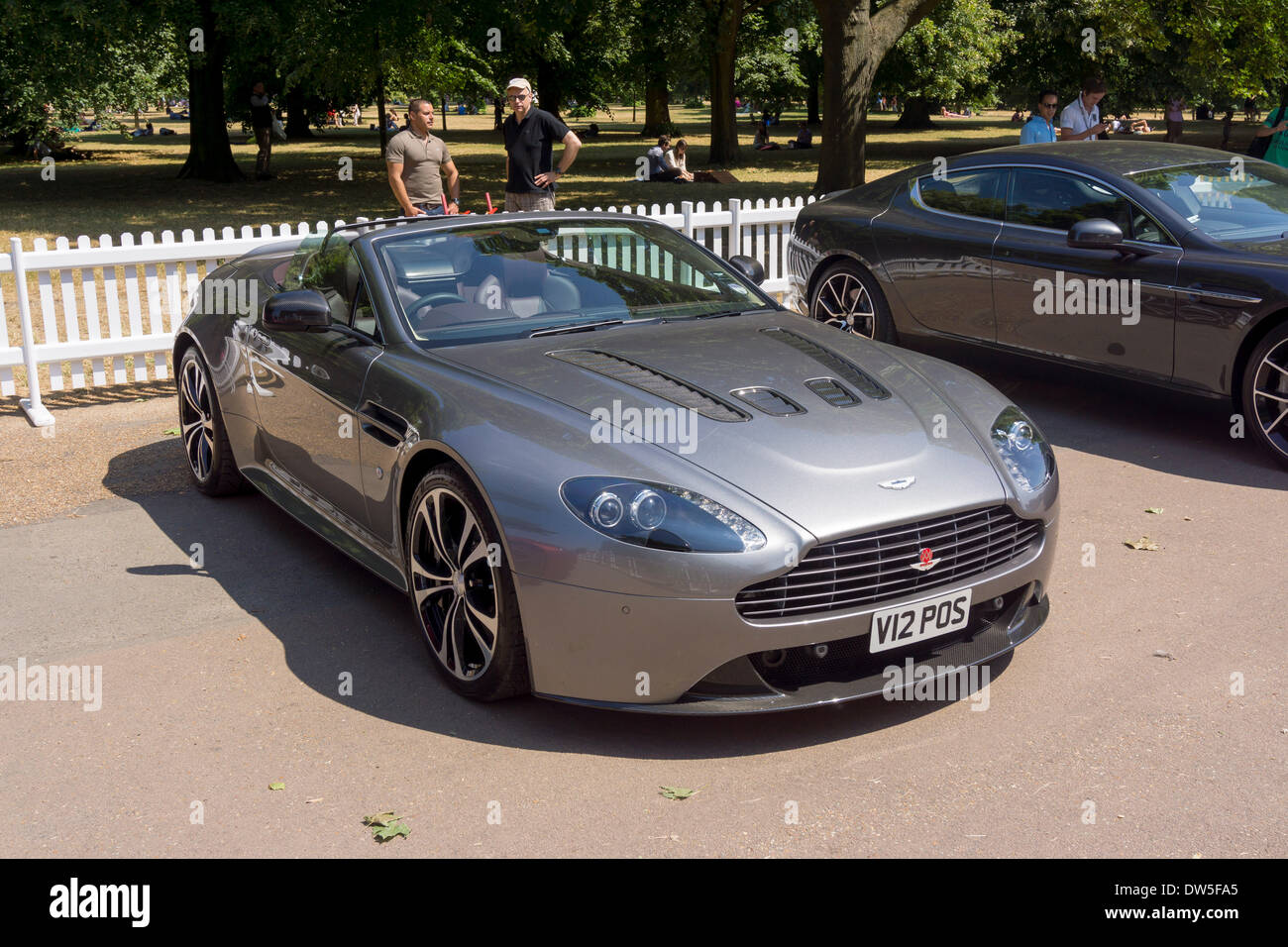 Aston Martin V12 Vantage Roadster 2012 Aston Martin Timeline Stock Photo Alamy