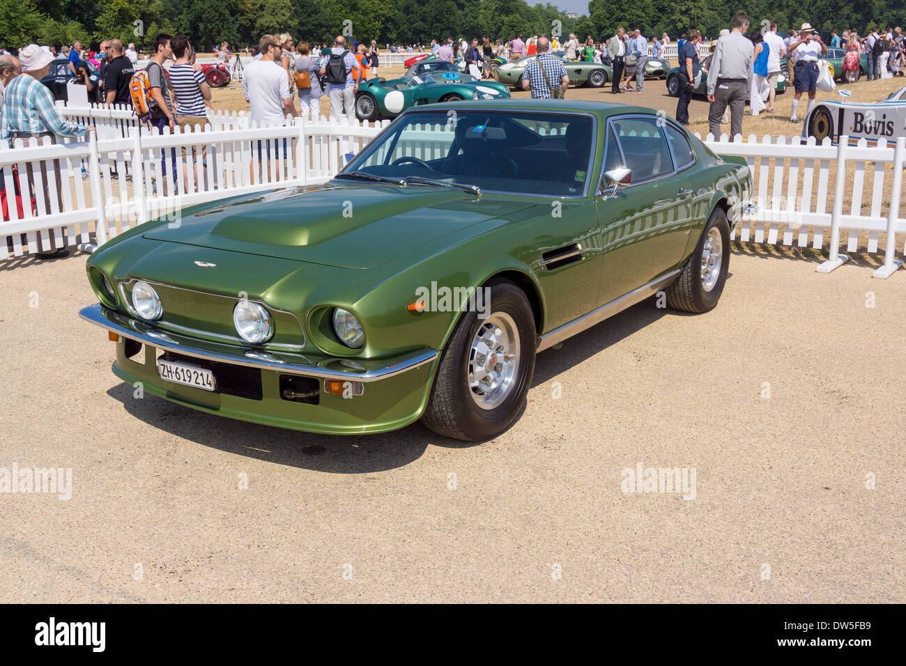 Aston Martin V8 VANTAGE (1977-1989), Aston Martin Timeline, Centenary Celebration 2013, 100 years Aston Martin, Stock Photo