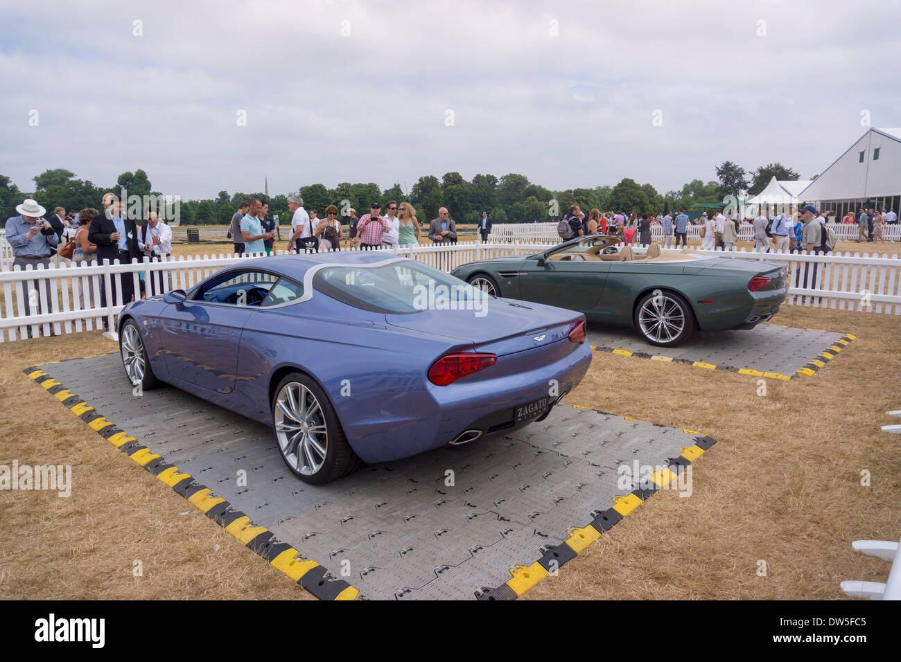 Aston Martin DBS COUPE ZAGATO CENTENNIAL (2013), Aston Martin Timeline, Centenary Celebration 2013, 100 years Aston Stock Photo