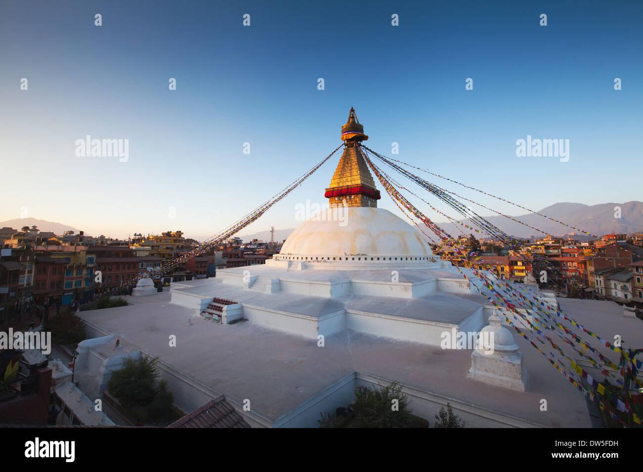 Boudhanath stupa in Kathmandu, Nepal - Stock Image