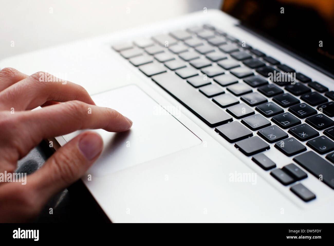using computer - Stock Image