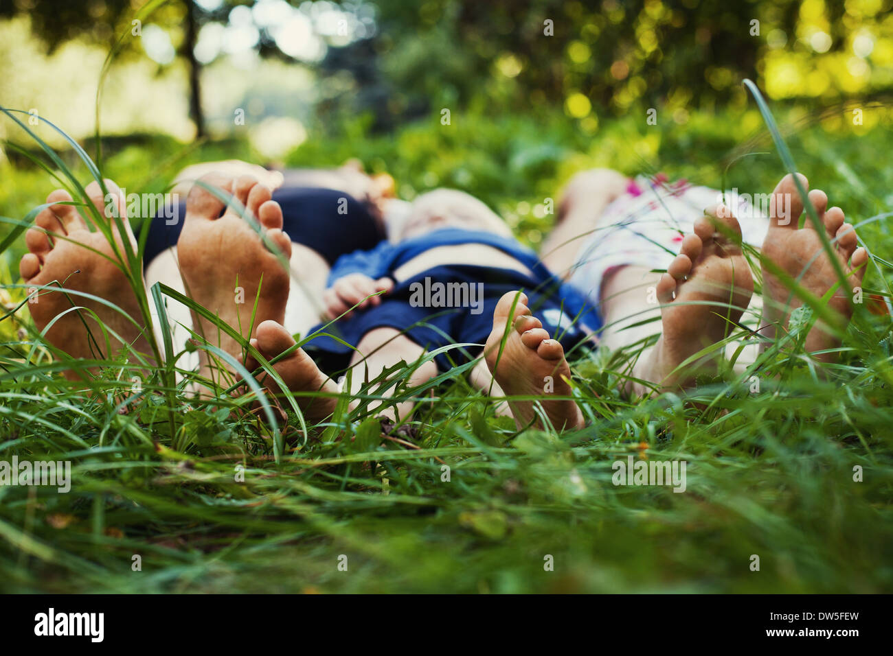 family outdoor - Stock Image