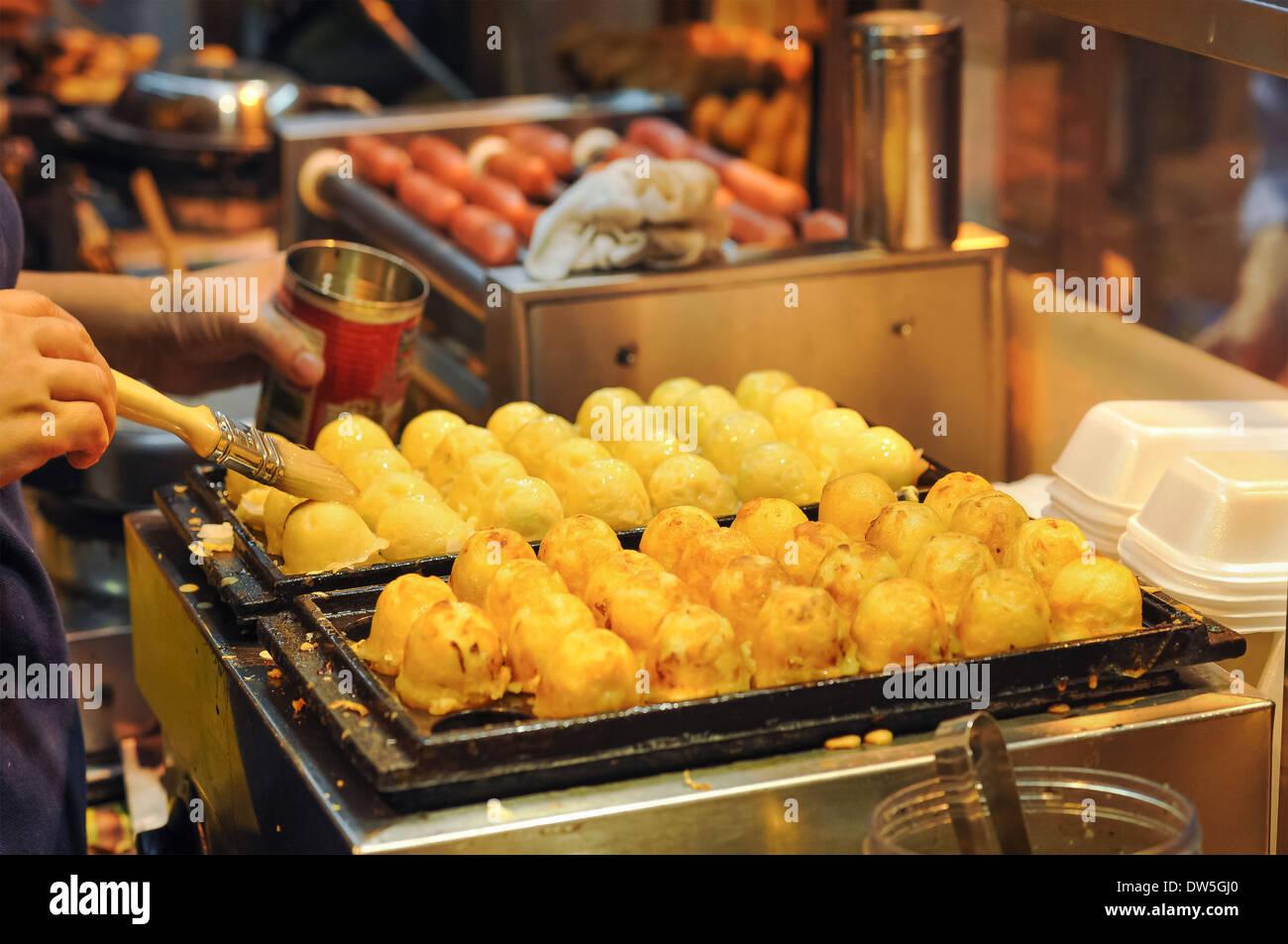 Japanese Street Food Squid Balls