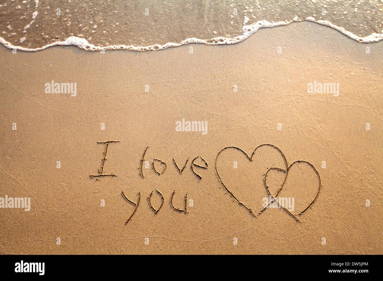 Valentine's day card, I Love You - Stock Image