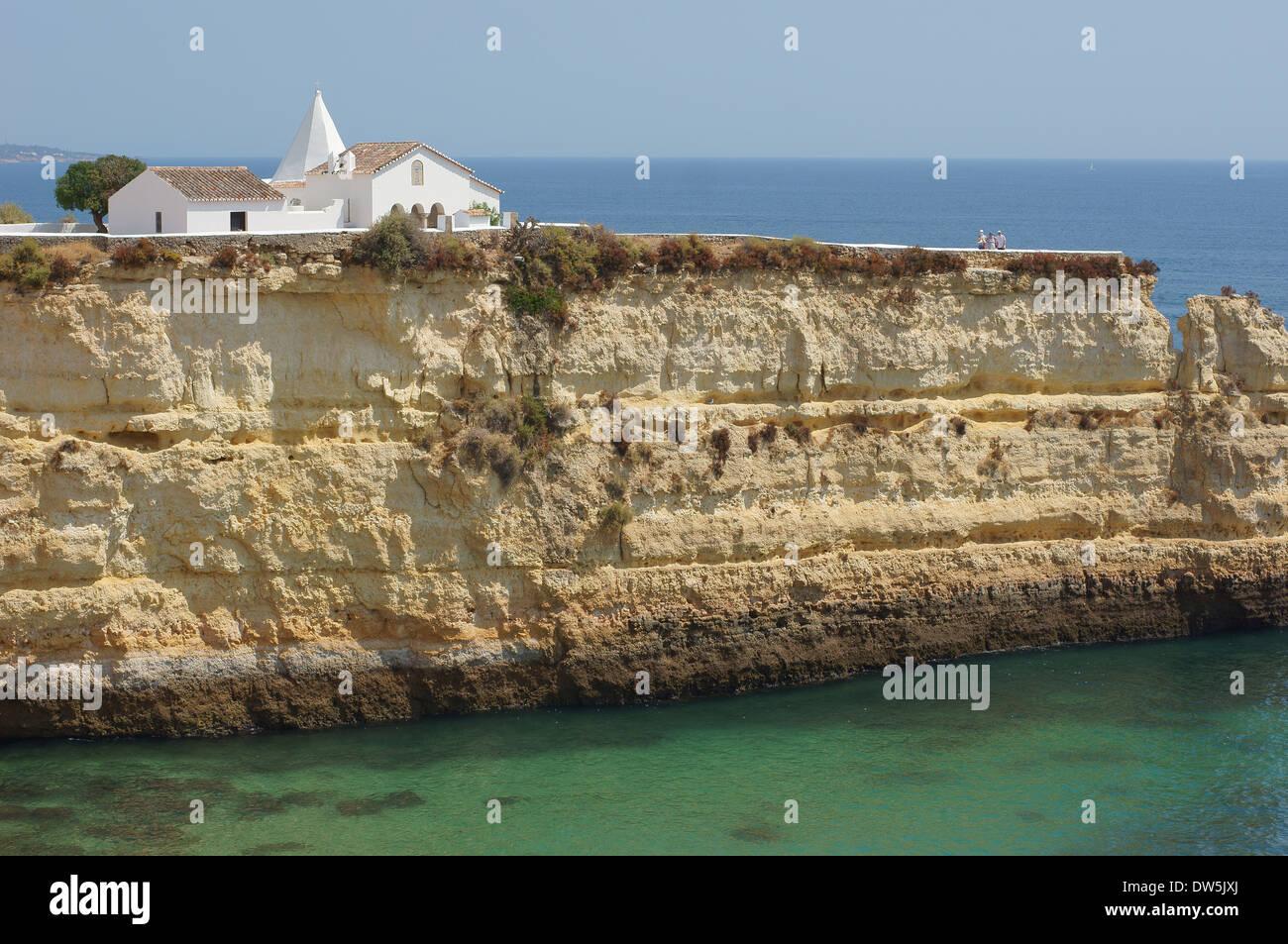Cliffs of Armacao de Pera Algarve Portugal - Stock Image