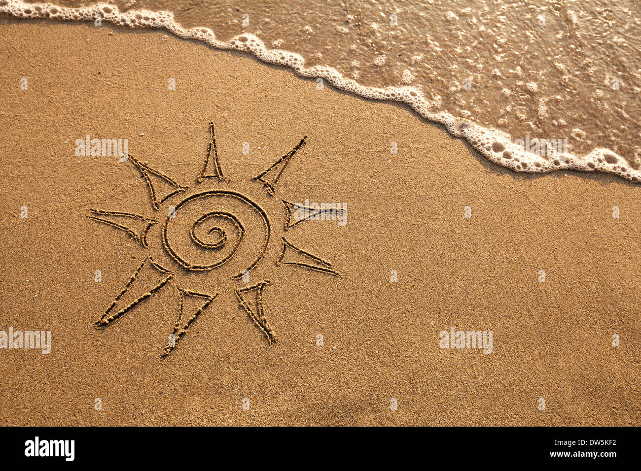sun on the beach - Stock Image