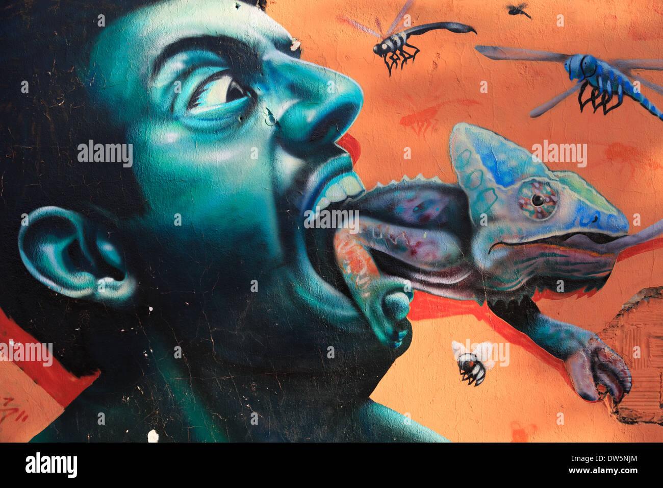 Graffiti at Florianópolis - Stock Image