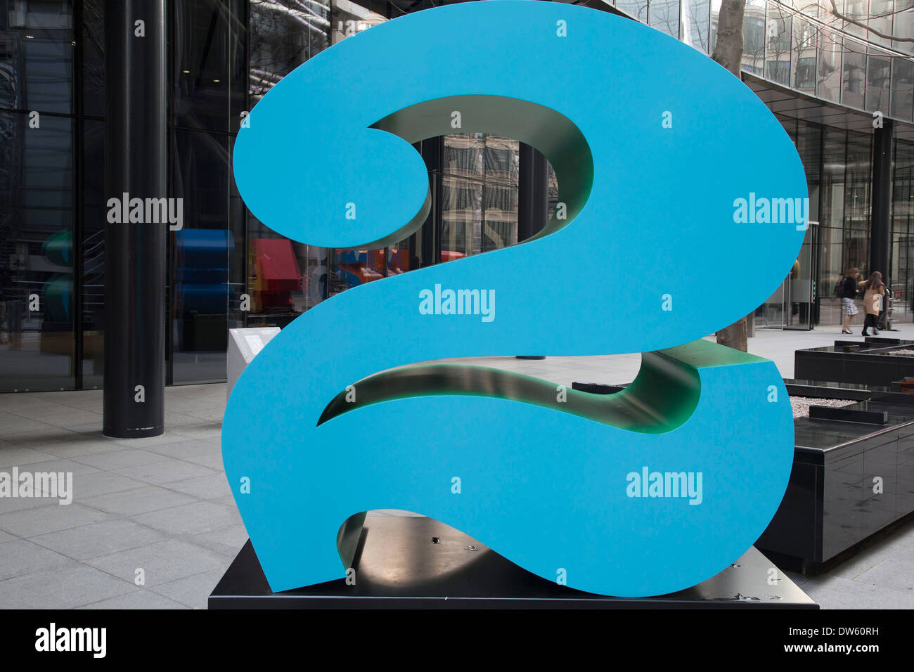 'One Through Zero (The Ten Numbers)' by American pop artist Robert Indiana (b 1928), in Lime Street, City of London, Stock Photo