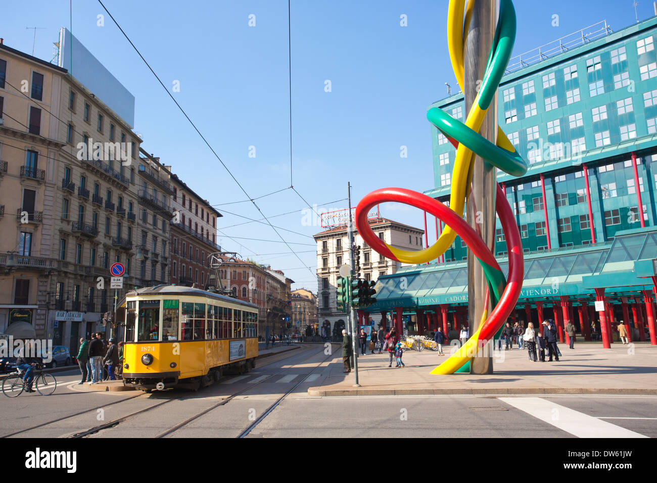 Piazzale Cadorna, Ferrovie Nord Railway Station, Milan, Milano, Lombardy, Italy - Stock Image