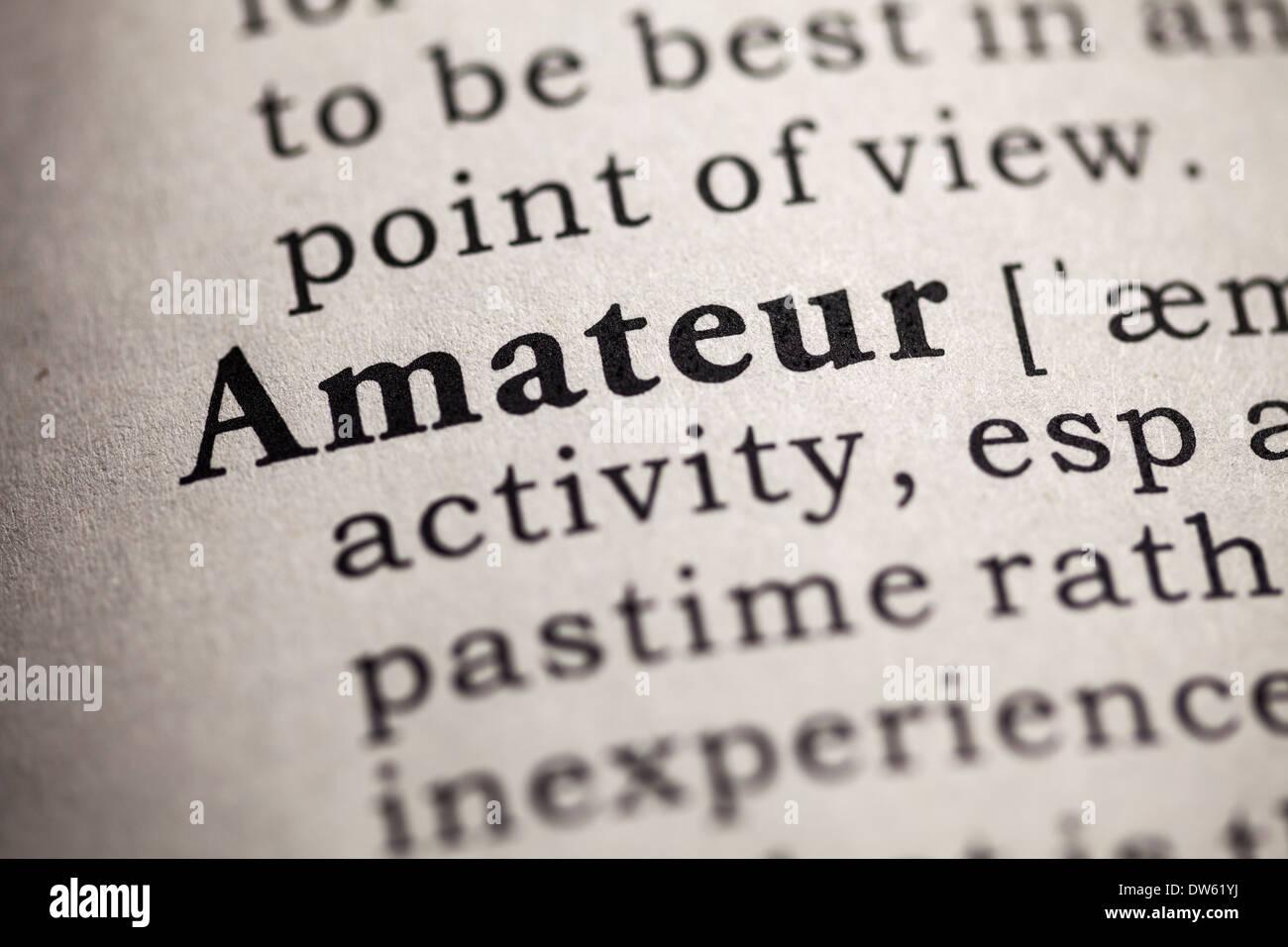Definition amateur