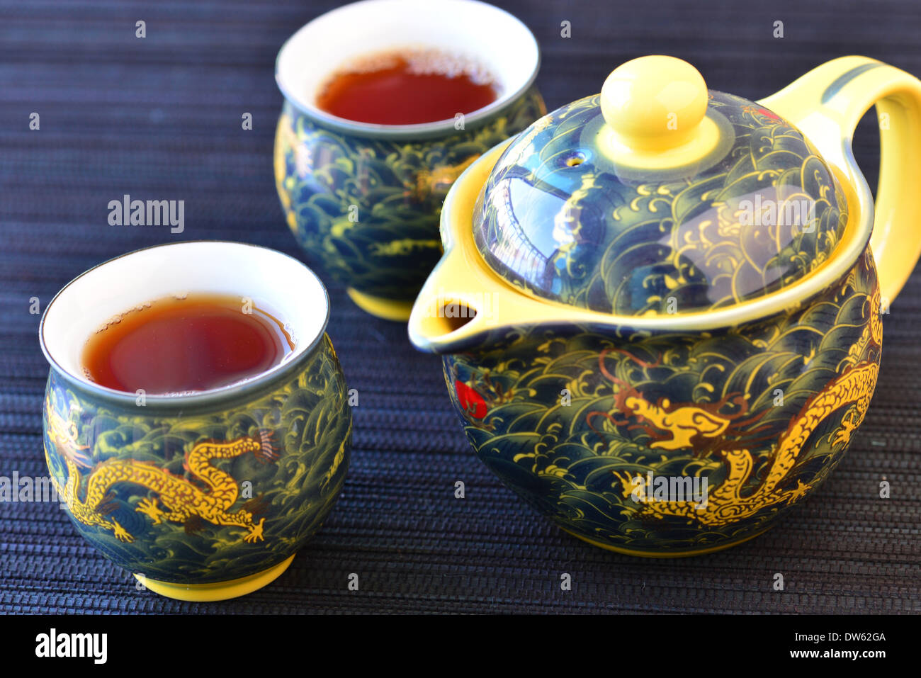 Chinese tea set - Stock Image
