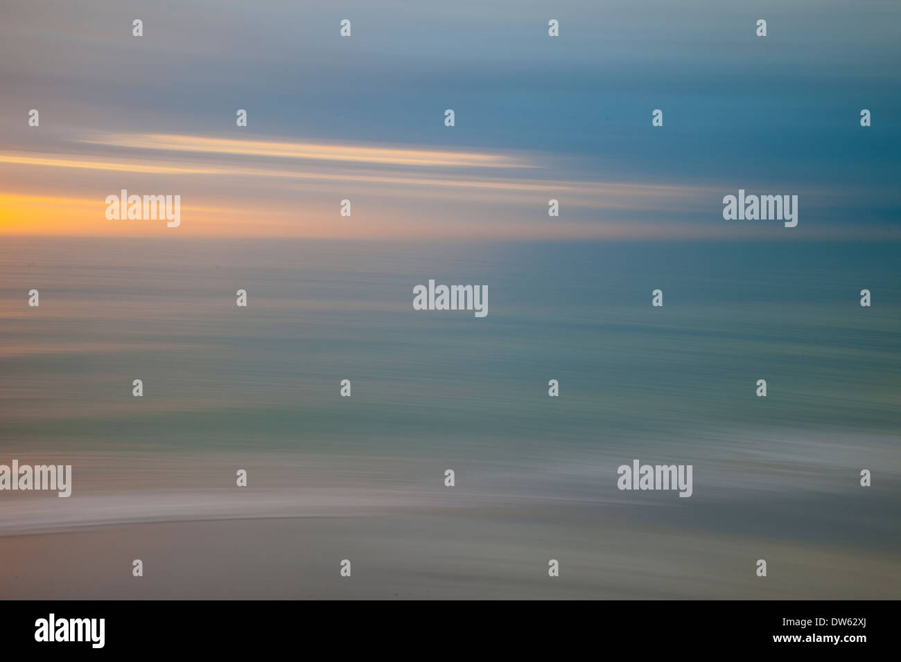 Florida Beach Impression, Motion Blur and abstract - Stock Image